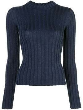 Vince ribbed mock neck sweater - Blue