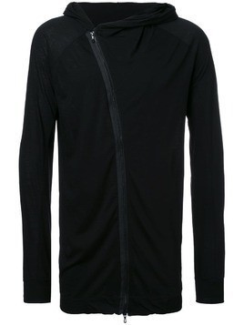 Julius loose-fit zip hoodie - Black