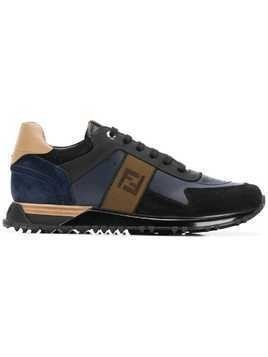 Fendi FF logo lace-up sneakers - Blue