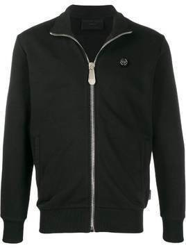 Philipp Plein embellished skull jogging jacket - Black