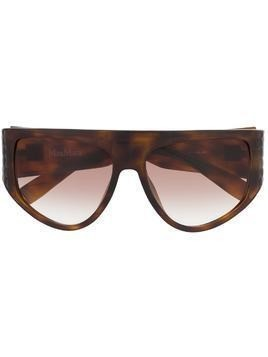 Max Mara D-frame oversized sunglasses - Brown