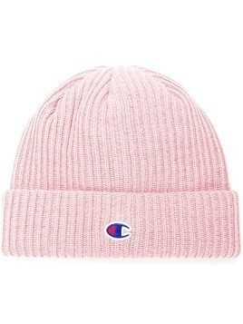 Champion logo patch beanie - Pink