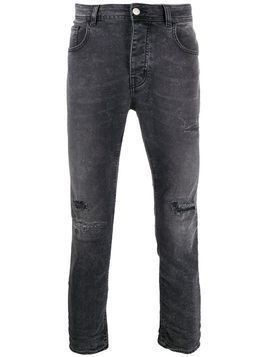 Haikure distressed straight-leg jeans - Grey