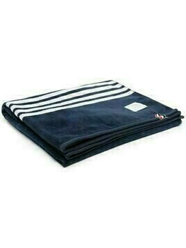Thom Browne 4-Bar embroidered towel - 415 Navy