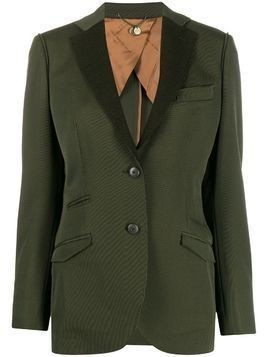 Maurizio Miri single-breasted fitted blazer - Green