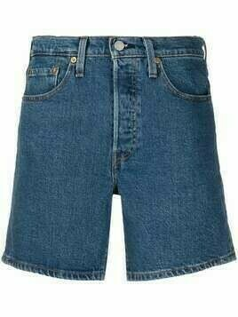 Levi's high-rise denim shorts - Blue