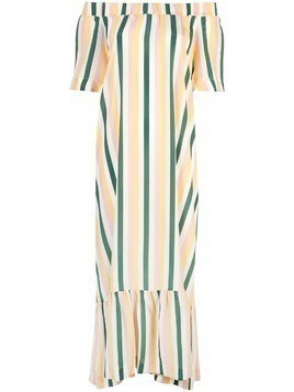 Asceno striped off shoulder dress - Multicolour