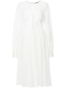 Flow The Label puff sleeves dress - White