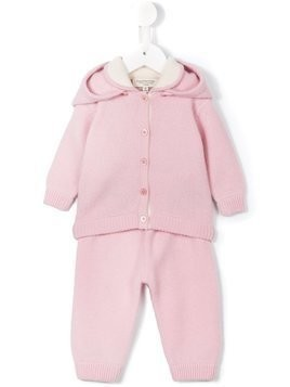 Cashmirino Knitted trouser set - Pink