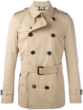 Burberry - Kensington short trench coat - Herren - Cotton/Viscose - 56 - Brown