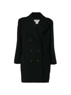 Christian Dior Vintage double breasted coat - Black