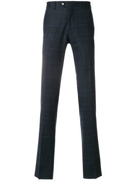 Biagio Santaniello checked slim-fit trousers - Blue
