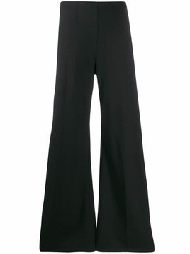 Forte Forte knitted flared trousers - Black