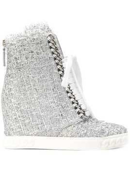 Casadei tweed sneakers - Grey