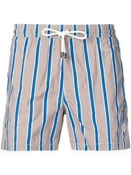 Borrelli striped swim shorts - Grey