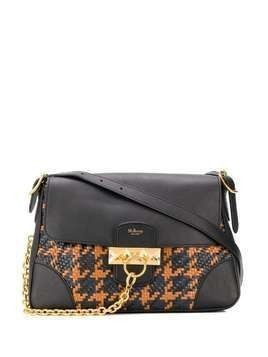 Mulberry Keeley woven-houndstooth shoulder bag - Black
