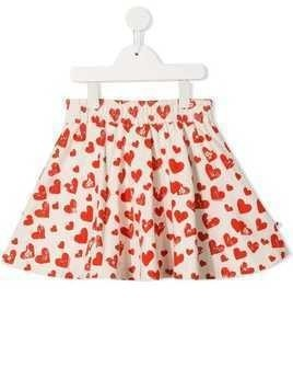 Molo heart print skirt - White