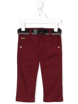 Lapin House belted jeans - Red