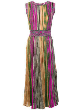 Missoni - fitted round neck dress - Damen - Polyester/Cupro/Viscose - 40 - Multicolour