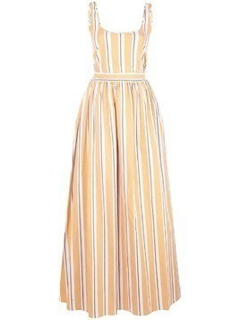 Brock Collection striped flared gown - Orange