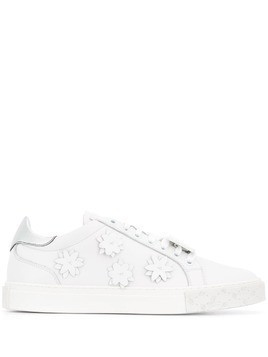 Blumarine flower patch sneakers - White
