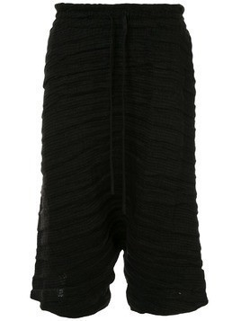 Forme D'expression cropped ribbed trousers - Black
