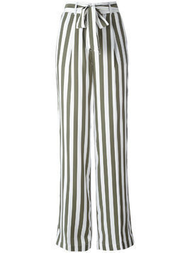 Equipment stripe high waist trousers - Green