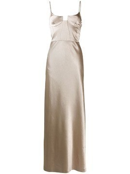 Galvan Phoebe bustier evening dress - Gold