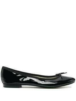 REPETTO glossy flat ballerina shoes - Black