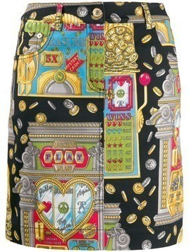 Moschino slot machine skirt - Yellow