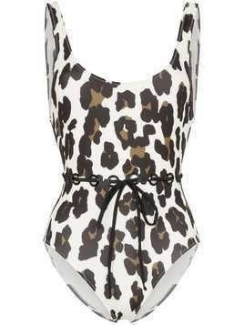 Solid & Striped Anne-Marie leopard print swimsuit