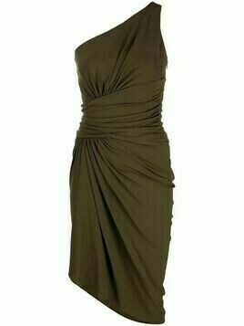 Alexandre Vauthier one-shoulder ruched midi dress - Green
