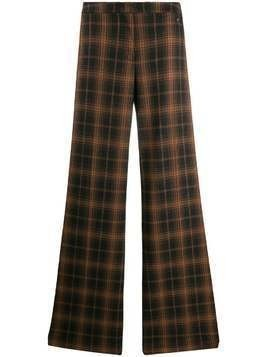 Trussardi Jeans checked wide-leg trousers - Brown