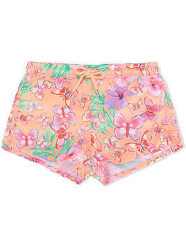 Sunuva tropical butterfly short shorts - Yellow & Orange