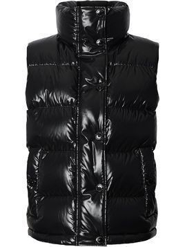 Burberry graphic logo puffer gilet - Black