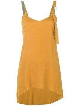 Fabiana Filippi curved hem oversized top - Yellow