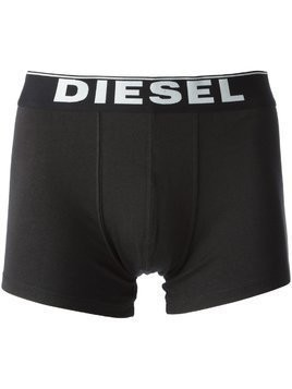 Diesel logo band briefs - two pack - Black