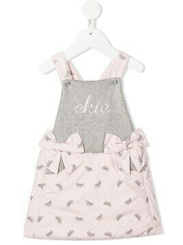 Lapin House bow print dress - PINK