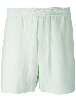 Qasimi elasticated waistband shorts - Green