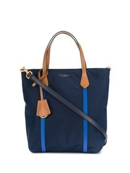 Tory Burch contrast top handle tote - Blue