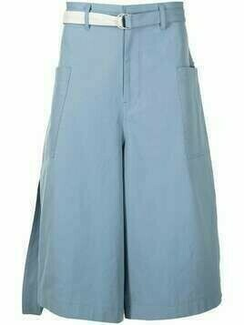 Bed J.W. Ford cropped wide-leg trousers - Blue
