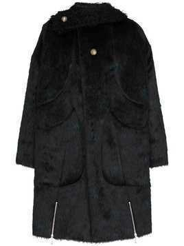 Kiko Kostadinov Maud speckled coat - Black