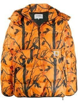 Carhartt WIP tree print jacket - ORANGE