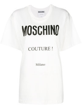Moschino logo T-shirt - White