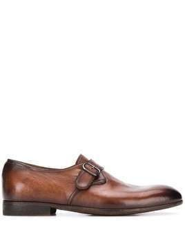 Officine Creative buckle strap monk shoes - Brown