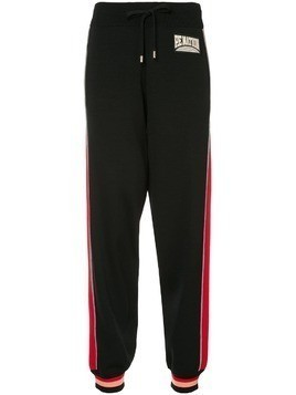 P.E Nation contrast stripe track pants - Black