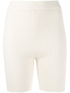 Cashmere In Love Mira knitted biker shorts - White