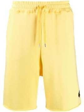 Vivienne Westwood Anglomania embroidered badge track shorts - Yellow