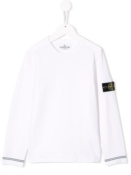 Stone Island Junior logo top - White