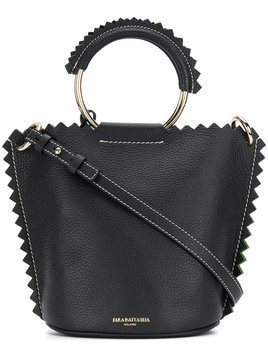 Sara Battaglia - bucket shoulder bag - Damen - Leather - One Size - Black